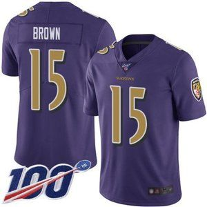 Ravens Marquise Brown 100th Season Jersey 1